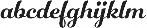 Number Five Smooth otf (400) Font LOWERCASE