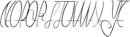 Number One otf (400) Font UPPERCASE