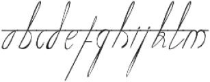 Number One otf (400) Font LOWERCASE