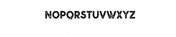 Nuevo Stamp.ttf Font LOWERCASE