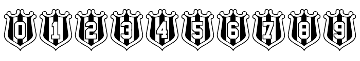 NUFC Shield Font OTHER CHARS