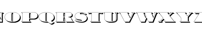 Nubian Shadow Font UPPERCASE
