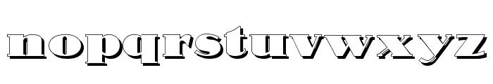 Nubian Shadow Font LOWERCASE