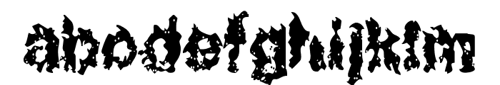 Nuclear Blast Font LOWERCASE