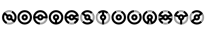 Nucleus BRK Font UPPERCASE
