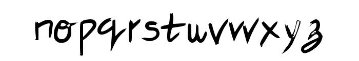 Nude Fude Regular Font LOWERCASE