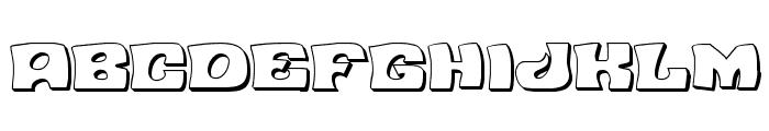 Nuevo Passion 3D Regular Font LOWERCASE