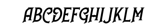 NufcedDEMO-Italic Font UPPERCASE