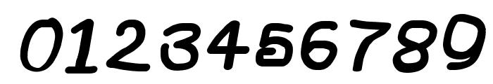 NumbBunny Black Italic Font OTHER CHARS