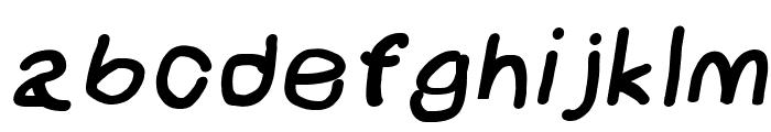 NumbBunny Black Italic Font LOWERCASE