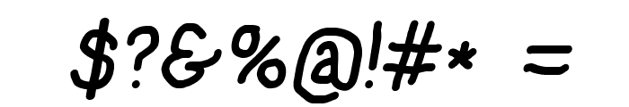 NumbBunny Bold Italic Font OTHER CHARS