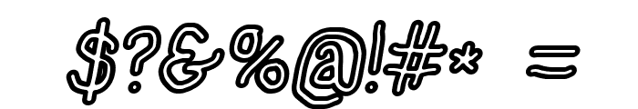 NumbBunny Bold Outline Italic Font OTHER CHARS