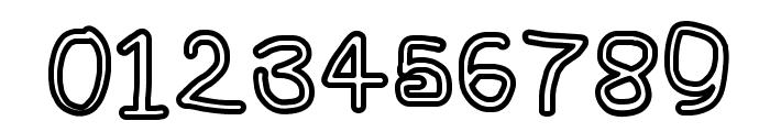 NumbBunny Bold Outline Font OTHER CHARS
