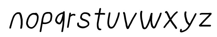 NumbBunny Italic Font LOWERCASE