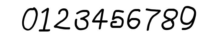 NumbBunny SemiBold Italic Font OTHER CHARS