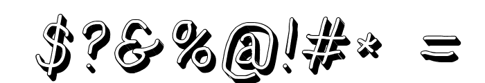 NumbBunny Shadow Italic Font OTHER CHARS