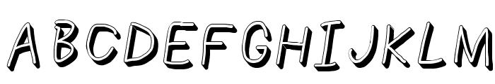 NumbBunny Shadow Italic Font UPPERCASE