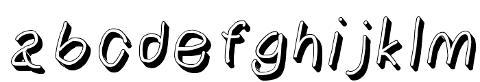 NumbBunny Shadow Italic Font LOWERCASE