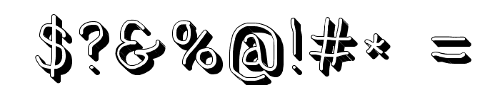 NumbBunny Shadow Font OTHER CHARS