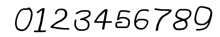 NumbBunny Wide Italic Font OTHER CHARS