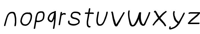 NumbBunny Wide Italic Font LOWERCASE
