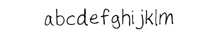 Number Cruncher Hand Medium Font LOWERCASE