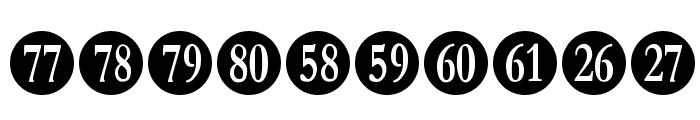 Numberpile-Regular Font OTHER CHARS