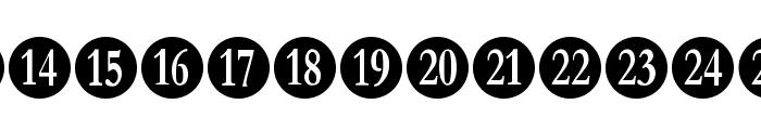 Numberpile-Regular Font UPPERCASE