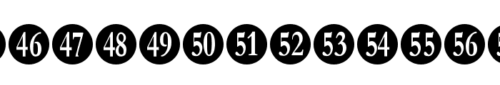 Numberpile-Regular Font LOWERCASE