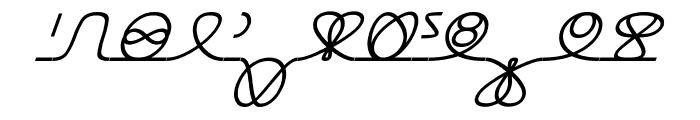 Numukki  Italic Font UPPERCASE