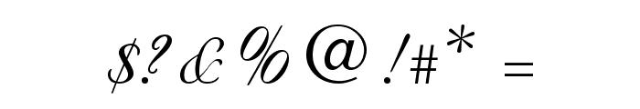 Nuncio Regular Font OTHER CHARS