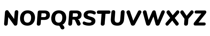 Nunito Black Italic Font UPPERCASE