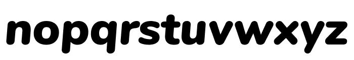 Nunito Black Italic Font LOWERCASE