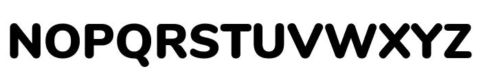 Nunito Black Font UPPERCASE