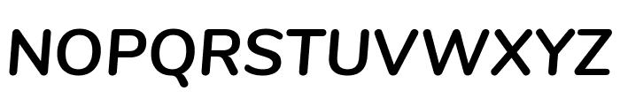 Nunito Bold Italic Font UPPERCASE