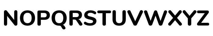 Nunito ExtraBold Font UPPERCASE