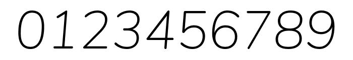 Nunito ExtraLight Italic Font OTHER CHARS