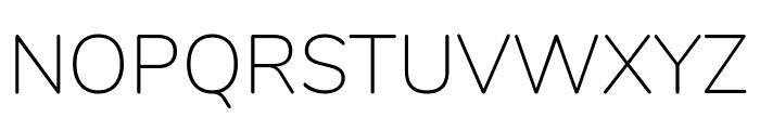 Nunito ExtraLight Font UPPERCASE