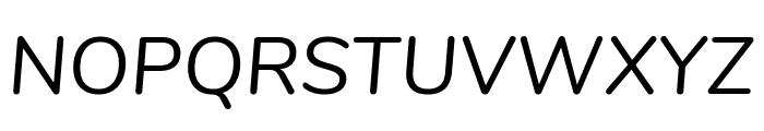Nunito Italic Font UPPERCASE