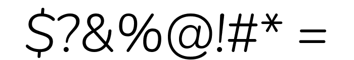 Nunito Light Italic Font OTHER CHARS
