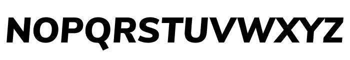 Nunito Sans Black Italic Font UPPERCASE
