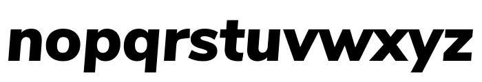 Nunito Sans Black Italic Font LOWERCASE