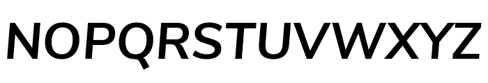Nunito Sans Bold Italic Font UPPERCASE