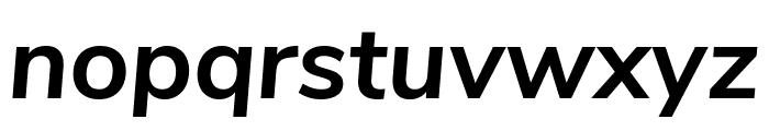 Nunito Sans Bold Italic Font LOWERCASE