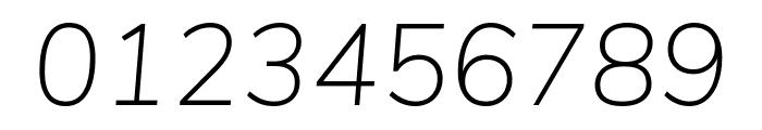 Nunito Sans ExtraLight Italic Font OTHER CHARS