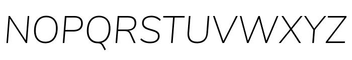 Nunito Sans ExtraLight Italic Font UPPERCASE
