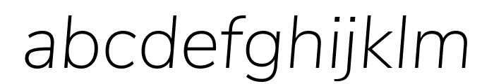 Nunito Sans ExtraLight Italic Font LOWERCASE