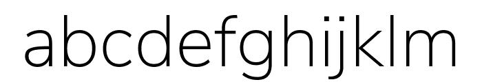 Nunito Sans ExtraLight Font LOWERCASE