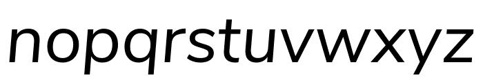 Nunito Sans Italic Font LOWERCASE
