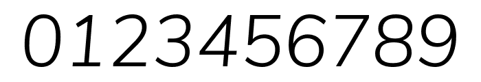 Nunito Sans Light Italic Font OTHER CHARS